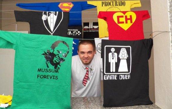 franquia de camisetas nerd rico